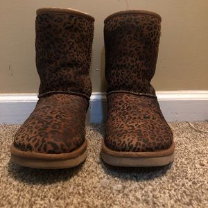 authentic tan cheetah print uggs